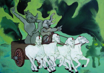 Asha Dangol 1_Acrylic on canvas_76x91cm_New Age Chariot_Euro 1000