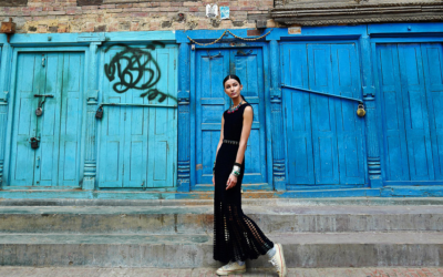 High fashion photo shoot in Patan, gorgeous photography!